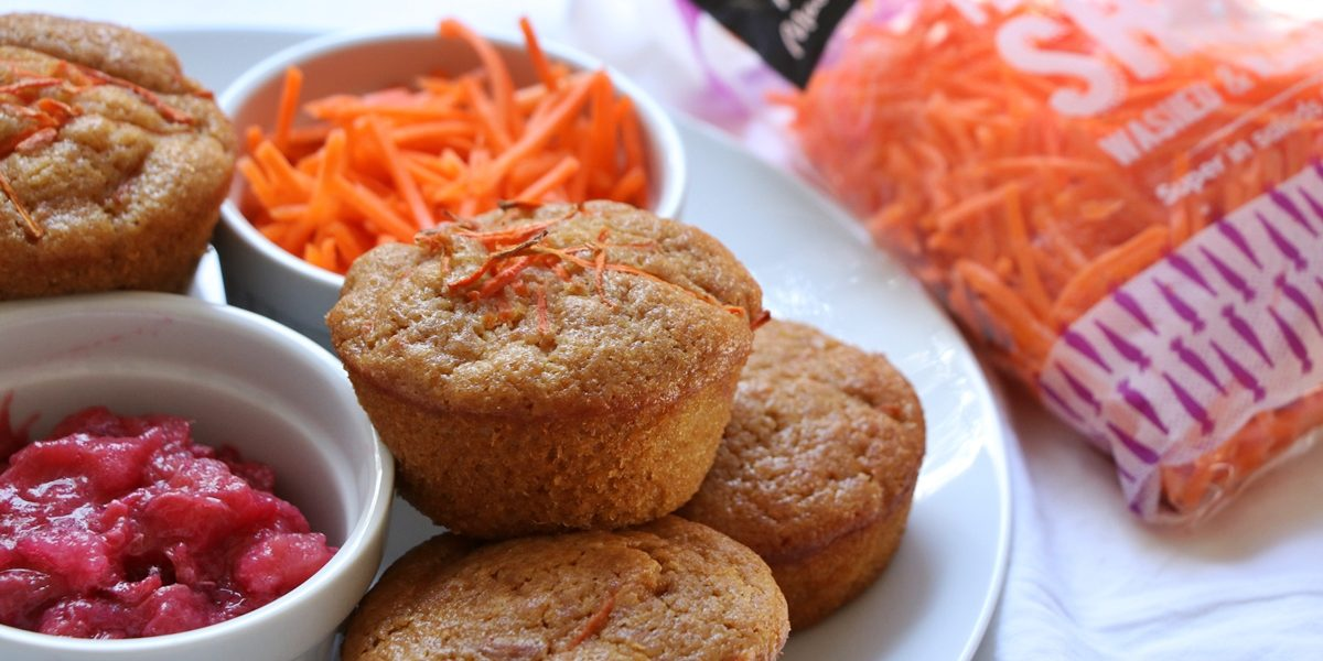 Carrot and Rhubarb Muffins