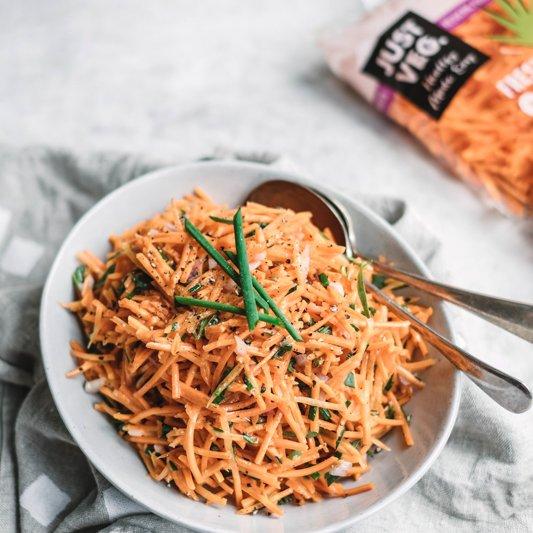 grated carrot salad carottes râpées