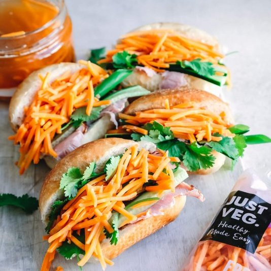 Mini Banh Mi with pickled carrot