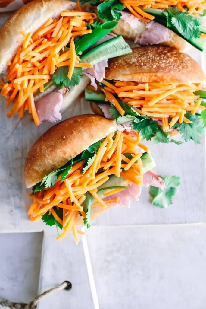Mini Banh Mi with Pickled Car